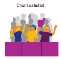 Des clients satisfaits grâce à l'outil de gestion de la relation client