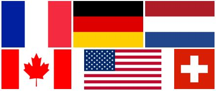 EXANERGY Routes couvre plusieurs pays et langues