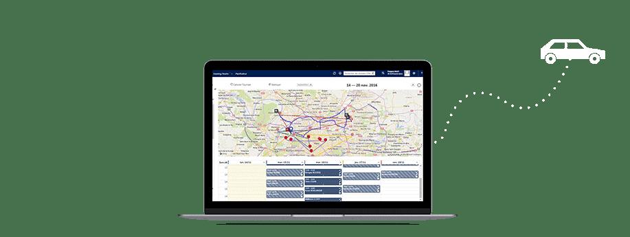 EXANERGY Routes, un logiciel de gestion des tournées commerciales