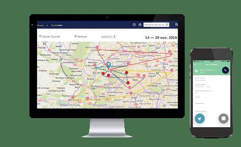 Avec EXANERGY Routes, organisez la tournée de votre équipe de vendeurs itinérants