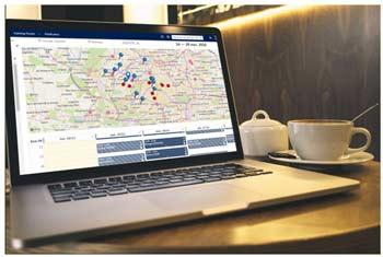 empreinte carbone et solution de planification des tournées commerciales