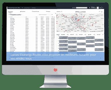 Exanergy Routes, le logiciel de gestion et d'optimisation de vos tournées commerciales