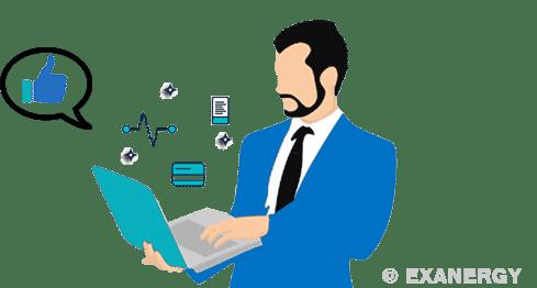 Réponses précises au client grâce exanergy CRM ERP