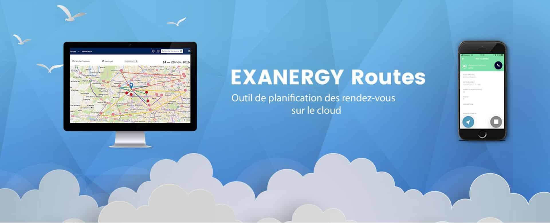 Bannière Exanergy routes